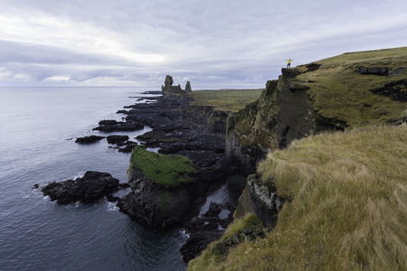 Lava formations, called Londrangar, at the south coast of Snaefellsnes peninsula, Iceland