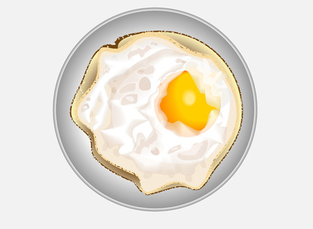 fried egg: fried egg