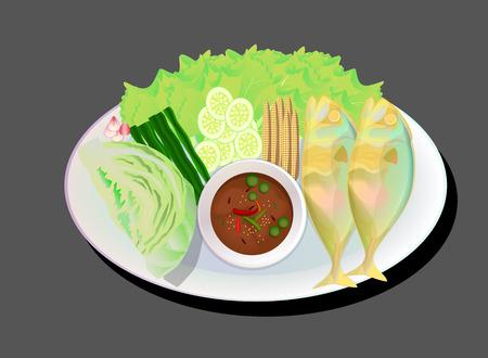 chili sauce: Thai fried mackerel with chili sauce