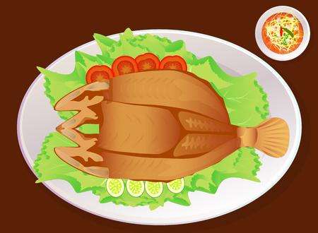 deep fried: Deep fried fish with fish sauce