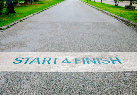 Start and Finish of the Road. Stock Photo