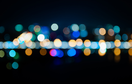 out of focus: Circle Multicolored the darkness caused by light out of focus. Stock Photo
