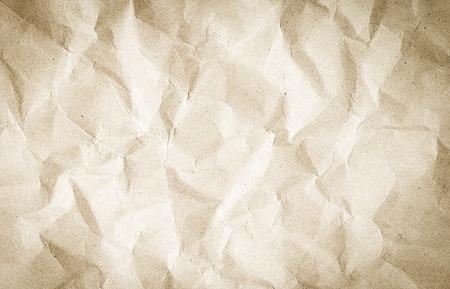 crumpled: Brown crumpled paper vintage style.