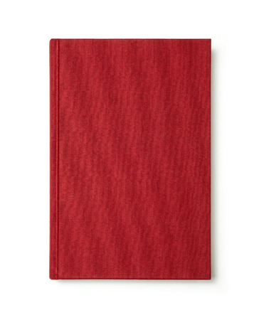 red book: Red book with blank cover isolated. Stock Photo