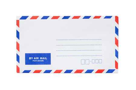airmail: Blank airmail envelope isolated