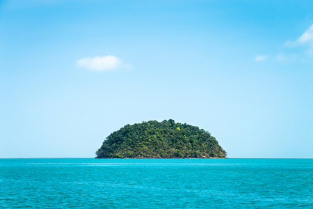 Round green island. Seascape with tropical island, Thailand. 写真素材