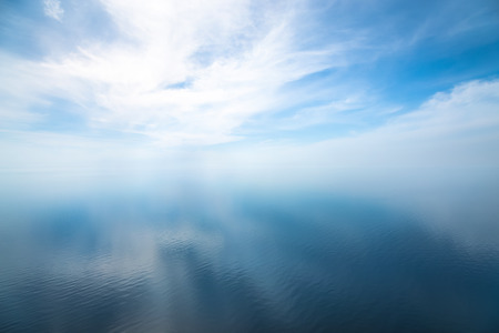 Beautiful seascape in the Atlantic ocean. Seascape with cloudy sky and light shadows on the water 写真素材