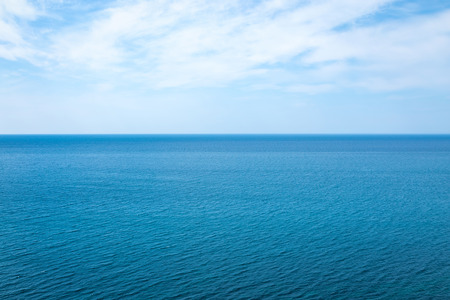 Beautiful seascape in the Atlantic ocean. Beautiful seascape with small waves on the water and amazing clouds in the sky