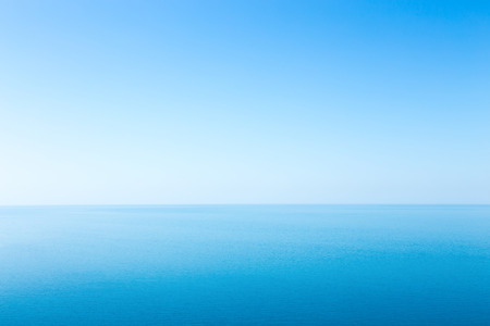 Beautiful seascape without clouds. Blue sky. The ideal background