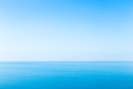 Beautiful seascape without clouds. Blue sky. The best background