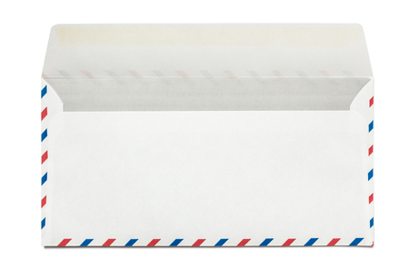 Blank airmail envelope isolated, rear view 写真素材