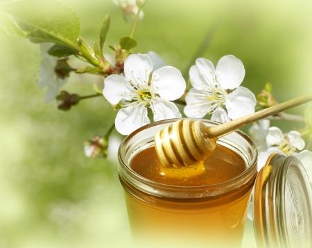 honey jar: Honey