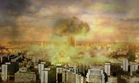Apocalypse , nuclear bomb Stock Photo - 13639046