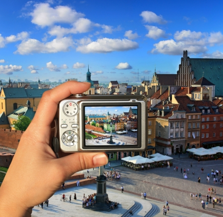 takes: Photographer takes picture of Warsaw