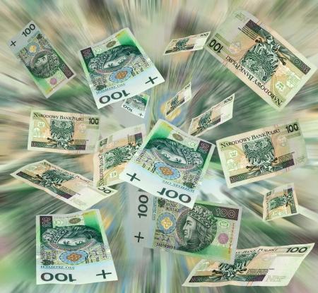 flying money: Money polish flying