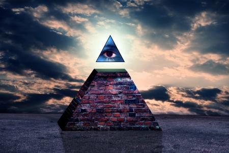 New world order sign of illuminati photo
