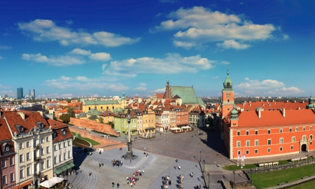 Warsaw panorama of old city Stock Photo - 13627761