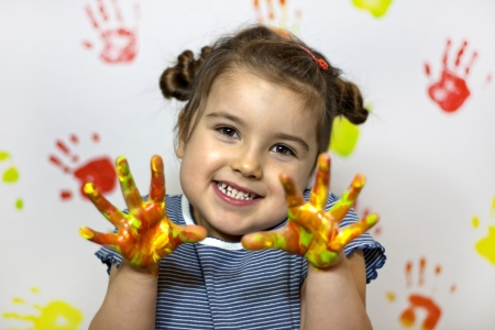 Painting is fun for kid Stock Photo - 13647079