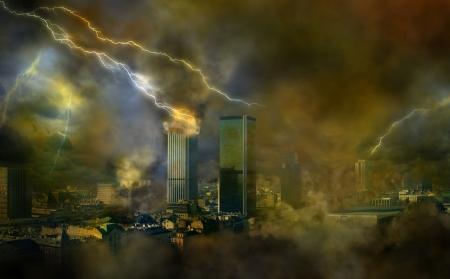 angel cemetery: Apocalypse weather anomalies