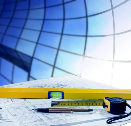 Construction and planning Stock Photo - 13711088