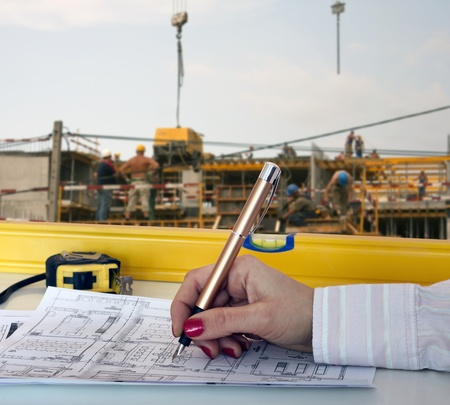 Construction and planning Stock Photo - 13711083