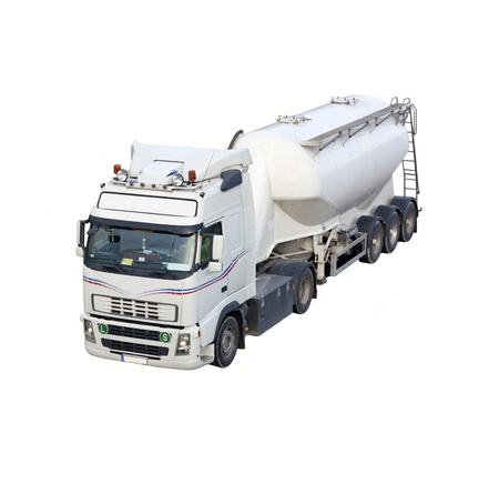 Truck cistern isolated photo