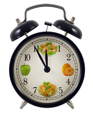 five to twelve: Diet clock concept