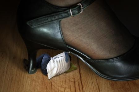 domination: Dominaci�n en calzado Foto de archivo