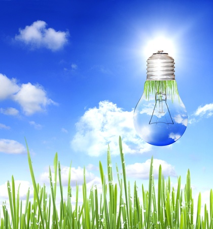 save electricity: energy save background concept Stock Photo