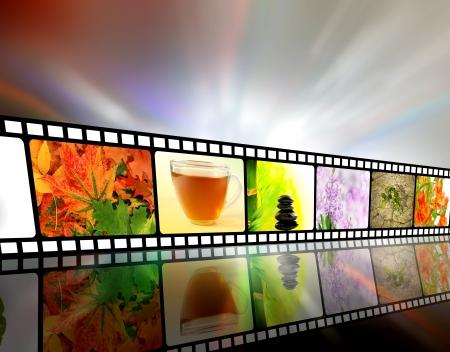 Film strip concept photo