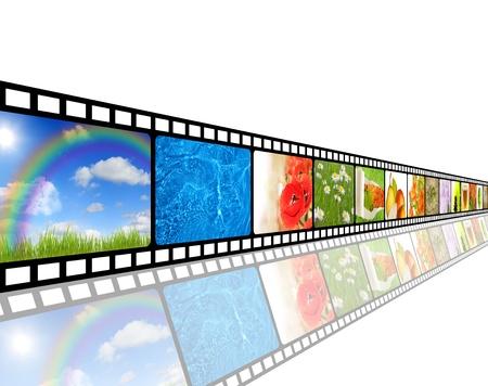 video still: Film strip environment concept Stock Photo