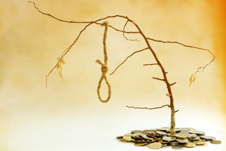 gallows: bad investment concept Stock Photo