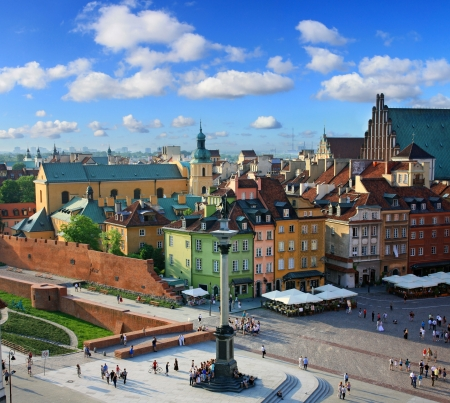 poland: Warsaw old city