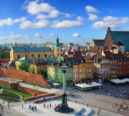 Warschau oude stad Stockfoto