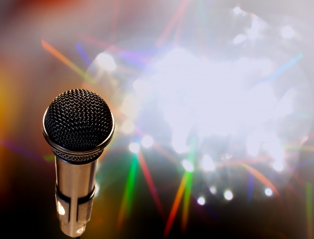 Microphone abstract music background photo