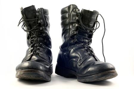 combat boots: Old military shoes