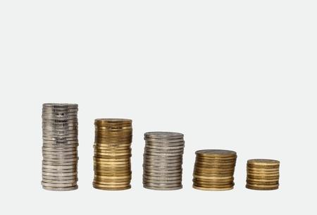 mucho dinero: Pila de monedas de dinero Foto de archivo
