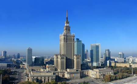 Warsaw panorama photo