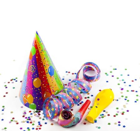 globos fiesta: la celebraci�n del partido de fondo Foto de archivo