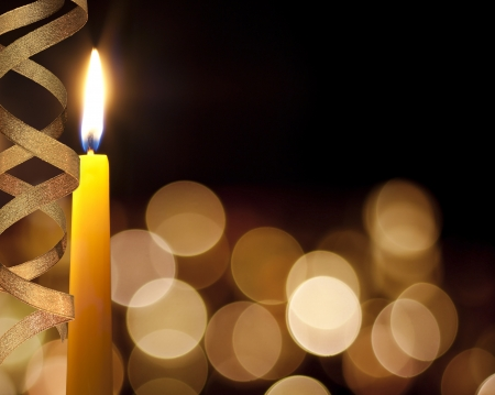 Romantic background candles and bokeh Stock Photo - 13753229