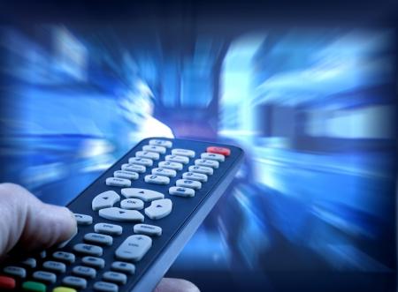 ver television: Viendo la televisi�n Foto de archivo