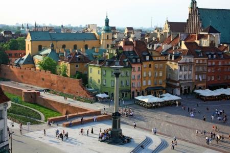 warszawa: Warsaw old city castle square