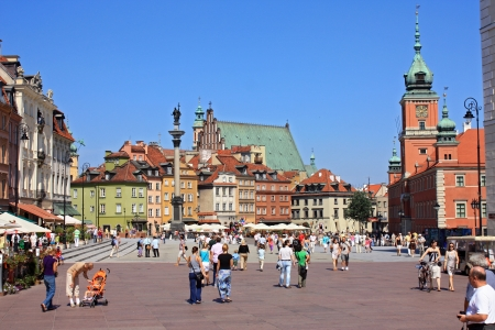 at town square: Warsaw old city