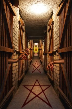 infierno: Camino al infierno concepto abstracto