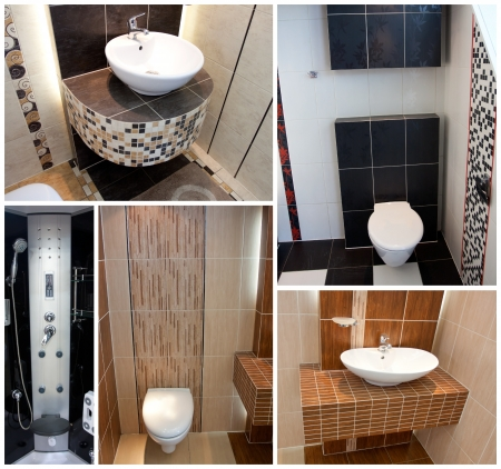 Toilets wc collage Stock Photo - 13744787