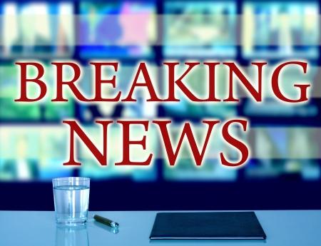 news reporter: breaking news in studio tv