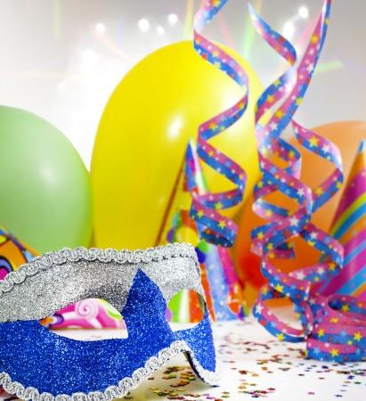carnaval masker: Partij toebehoren abstracte achtergrond Stockfoto