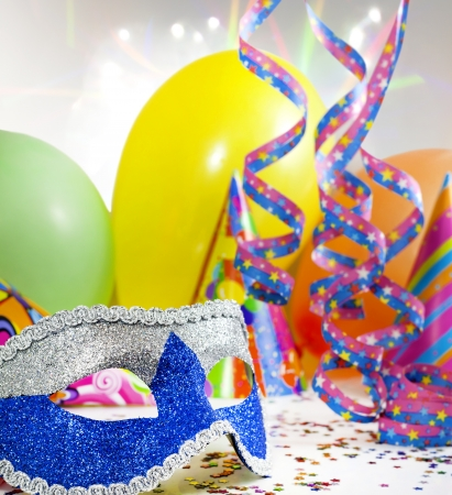 carnival festival: Party accessories abstract background