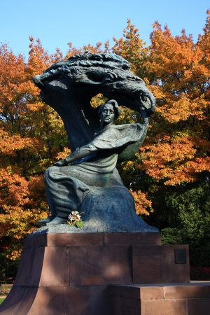 Chopin monument in Poland in Warsaw photo