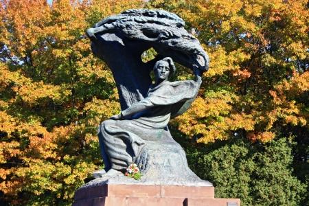 lazienki: Chopin monument in Poland in Warsaw